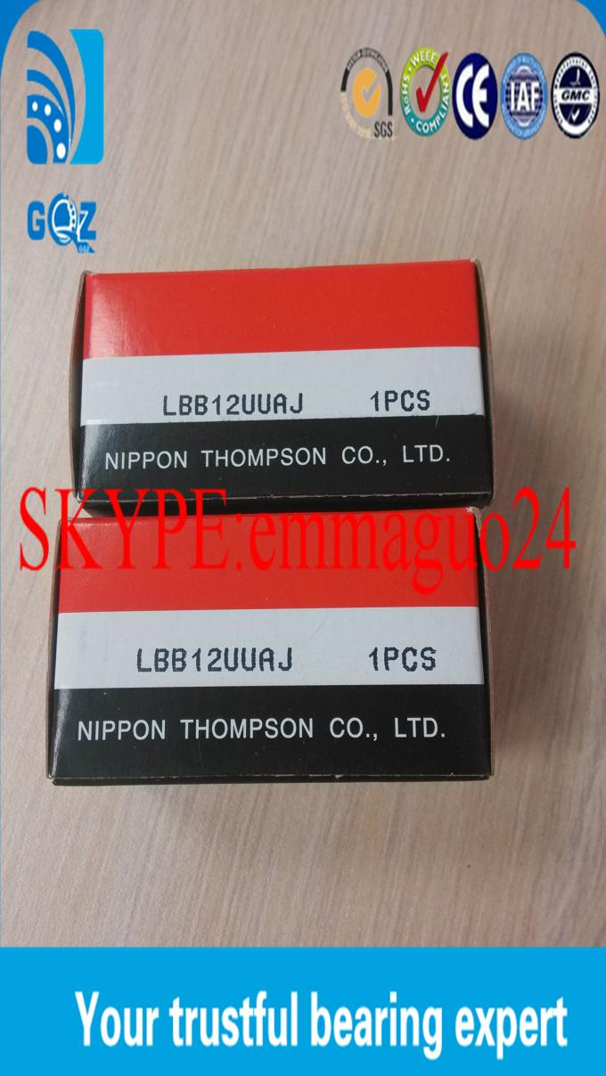 LM60UU Friction Smallest Linear Motion Bearings High Precision With Rolling Body