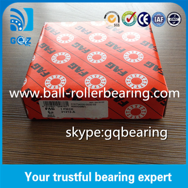 Durable Single Row Tapered Roller Bearing , Barrel Roller Bearing 31313A