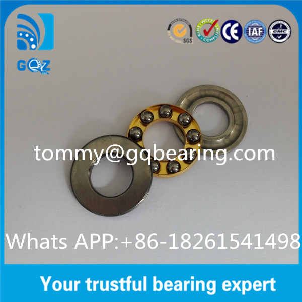 Brass Cage F8-16M Miniature Thrust Ball Bearing With Seat Washers