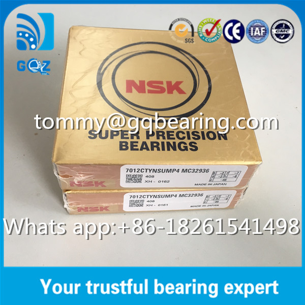 P4 Precision NSK Super Precision Bearings Angular Contact 7012CTYNSUMP4