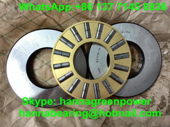 89438M Brass Cage Cylindrical Thrust Roller Bearing , Heavy Duty Thrust Bearing
