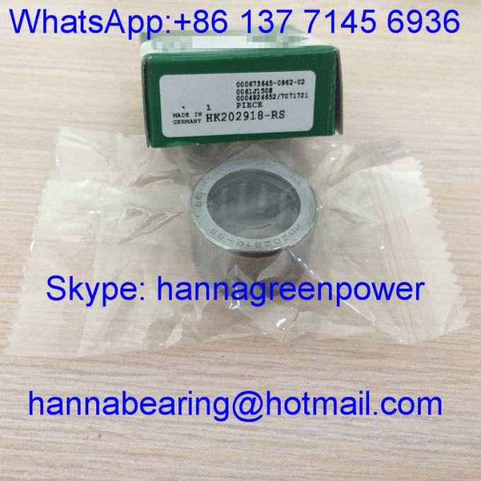 HK202918-RS / HK202918 / HK20x29x18 Motorcycle Clutch Bearing / Needle Roller Bearing With Seal , 20*29*18mm