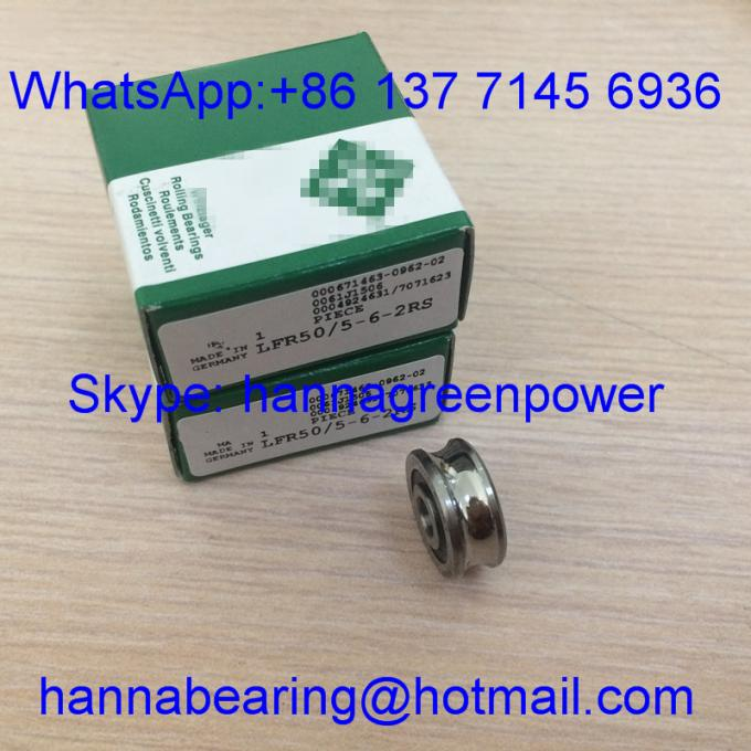 LFR50/5-6- 2RS / LFR50/5-6-2Z / LFR50 / 5KDD Profiled Outer Ring Track Roller Bearing 5*17*8mm