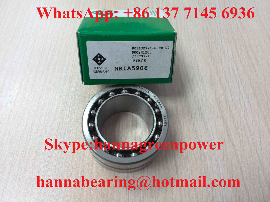 Plastic Cage NKIA5910 Needle Roller Bearings Thrust Angular Contact Bearing 50x72x30mm