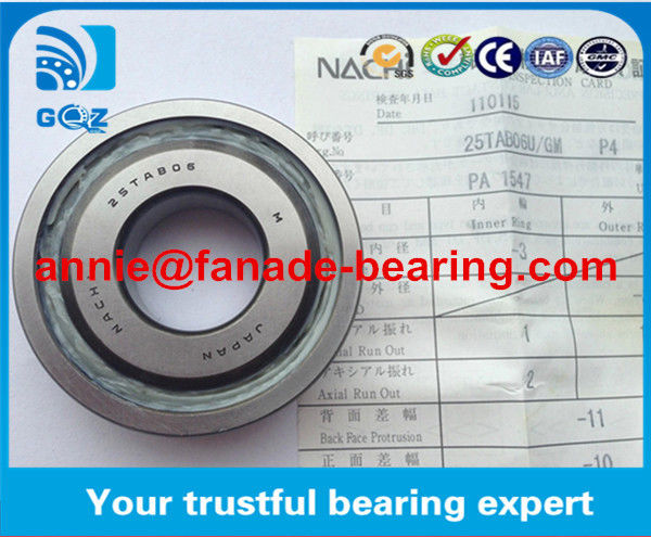 Precision P4 NACHI bearing 25TAB06 for machine tools Ball Screw Bearing spindle bearing 25TAB06  25*62*15 mm