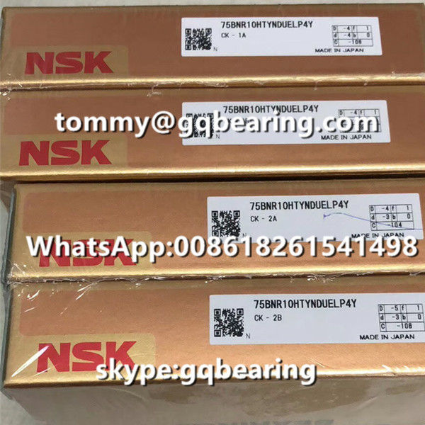 Ceramic material Balls P4Y High Precision NSK 75BNR10HTYNDUELP4Y High Speed Ball Screw Bearing