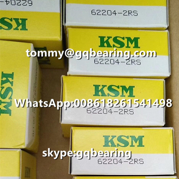 Japan Origin KSM 62204-2RS Rubber Sealed Deep Groove Ball Bearing 20 x 47 x 18 mm