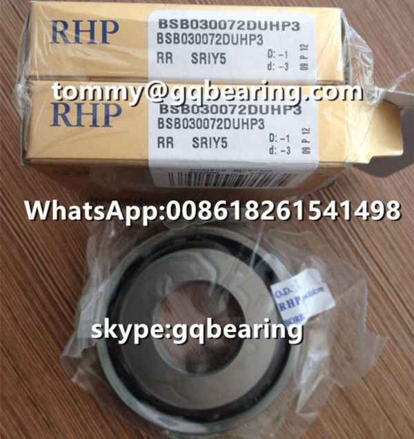 Ceramic Material Balls RHP BSB030072DUHP3 Super Precision Spindle Ball Bearing Angular Contact Ball Bearing