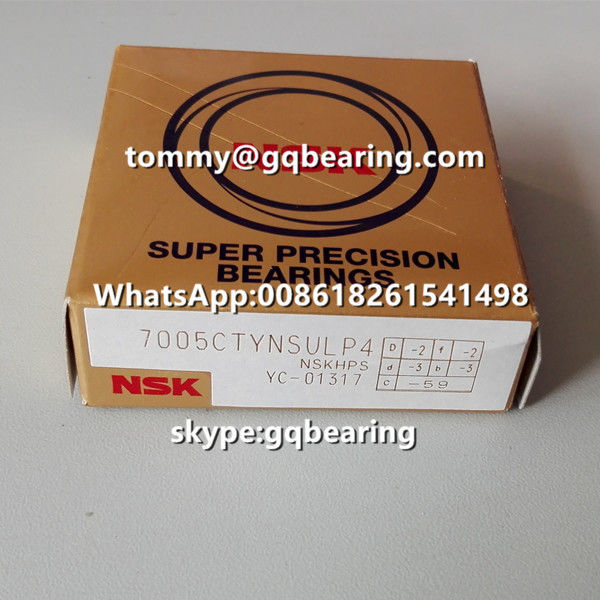 15 Degree Contact Angle Single Universal NSK 7011CTYNSULP4 Angular Contact Ball Bearing